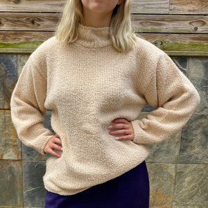 VINTAGE Handcraft Ltd Woven Sweater Cream Small